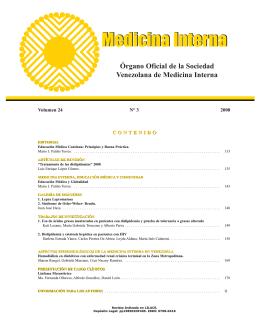 Portada volumen 24 N°3_SVMI - Sociedad Venezolana de Medicina
