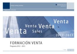 FORMACIÓN VENTA Sales