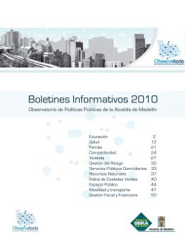+ Boletines informativos 2010