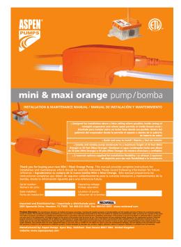 mini & maxi orange pump/bomba