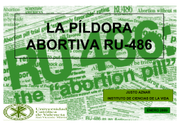 LA PÍLDORA ABORTIVA RU-486