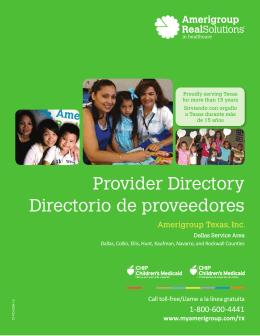 Provider Directory Directorio de proveedores Texas CHIP Perinatal
