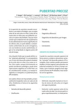 Pubertad precoz - Asociación Española de Pediatría