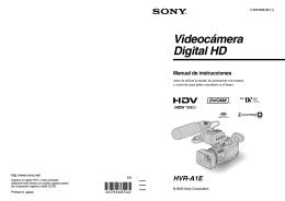 Manual de Instrucciones camara SONY HVRa1e