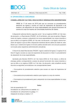 Orde do 11 de marzo de 2015