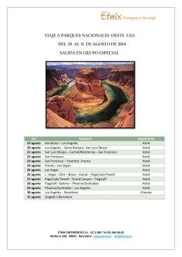 viaje a parques nacionales oeste usa del 19 al 31 de agosto de