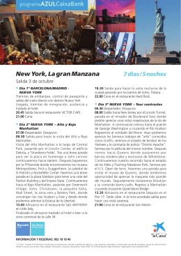 New York, La gran Manzana 7 días / 5 noches
