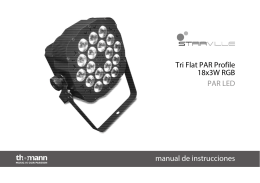 Tri Flat PAR Profile 18x3W RGB PAR LED manual de
