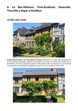 4- Le Bec-Hellouin, Pont-Audemer, Deauville, Trouville y llegar a