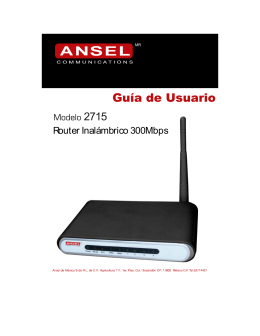 Manual de Usuario Modelo 2715 802
