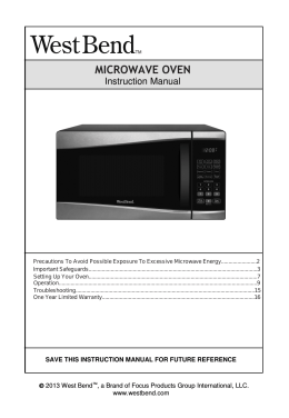 MICROWAVE OVEN - West Bend®