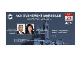 ACN EVENEMENT MARSEILLE
