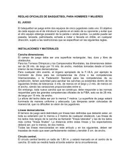 REGLAS OFICIALES DE BASQUETBOL PARA HOMBRES Y
