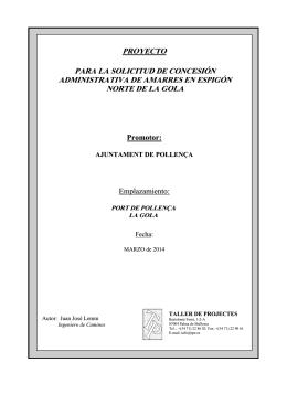 Proyecto Concesión Administrativa Gola