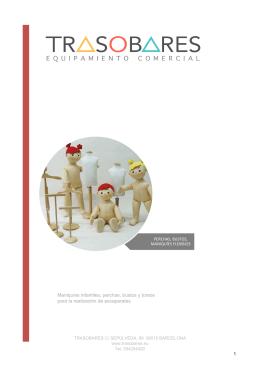 Maniquíes infantiles, perchas, bustos y torsos para la realización de