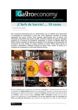 ¡Chefs de barrio!… 10 casos