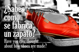 ¿Sabes cómo se fabrica un zapato?