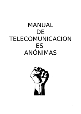 Manual de Telecomunicaciones Anónimas