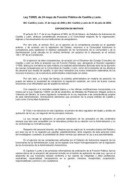 Ley 7/2005, de 24 mayo de Función Pública de Castilla y León. 1