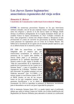 Los Jueves Santos legionarios, anacrónicos exponentes del viejo