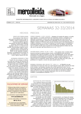 SEMANAS 32-33/2014