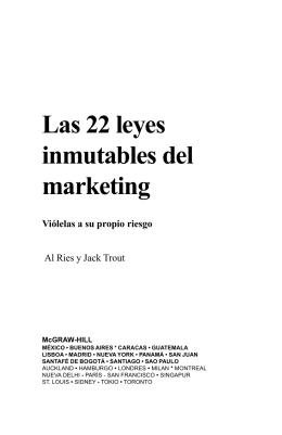 Las 22 Leyes Inmutables de Marketing