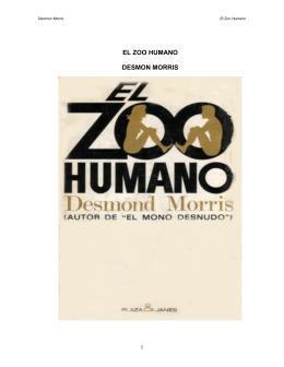 EL ZOO HUMANO - Fieras, alimañas y sabandijas