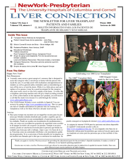 the newsletter for liver transplant patients and families