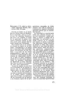 BOCHENSKI, J. M., ¿Qué es Auto- ridad? Editodial Herder