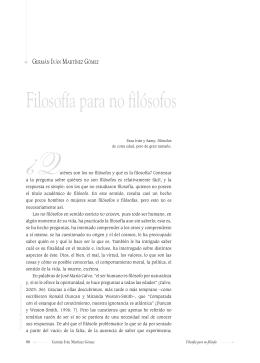 Filosofía para no filósofos - Universidad Autónoma del Estado de
