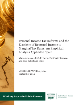 Personal Income Tax Reforms and the Elasticity of Reported Income