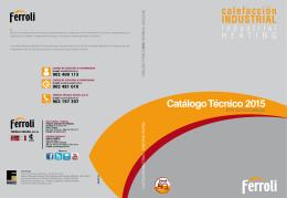 Catálogo Técnico 2015 calefacción INDUSTRIAL