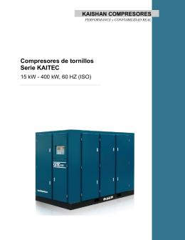 Compresores de tornillos Serie KAITEC