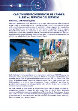 carlton intercontinental de cannes: alert al servicio del servicio