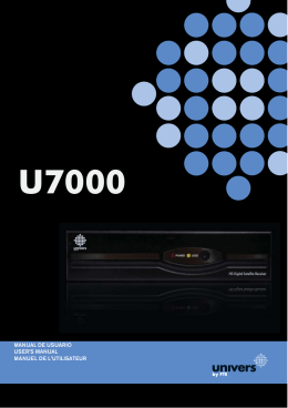 manual de usuario user`s manual manuel de l`utilisateur