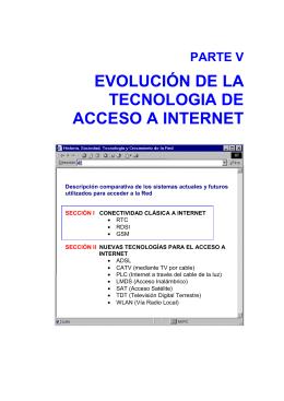 parte v evolución de la tecnologia de acceso a internet