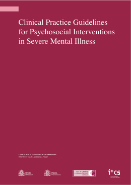 CPG for Psychosocial Interventions in Severe Mental
