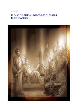 El paso del mito al logos: los filósofos presocráticos