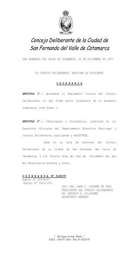 3128_reglamento interno _4742 - Concejo Deliberante Catamarcacomo