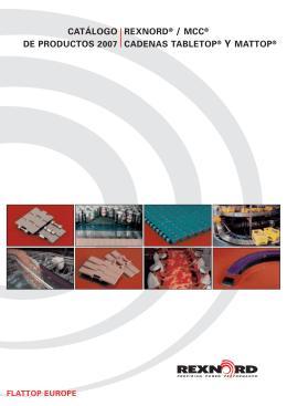 catálogo de productos 2007 rexnord / mcc cadenas tabletop y mattop