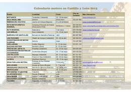 Calendario motero en Castilla y León 2015