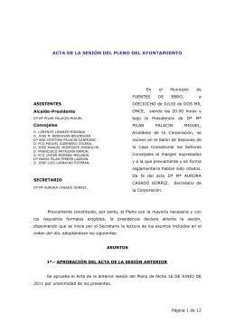 Acta Pleno 18 julio 2011 - Ayuntamiento de Fuentes de Ebro