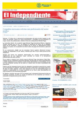 Compañías mexicanas solicitan más profesionales