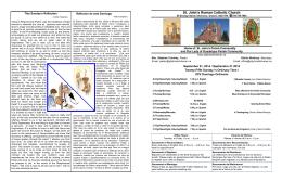 Boletín para el fin de semana del 21 de septiembre de 2014.