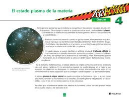 El estado plasma de la materia