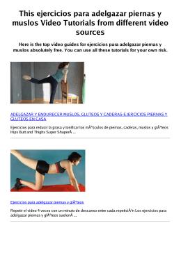 Z ejercicios para adelgazar piernas y muslos PDF video