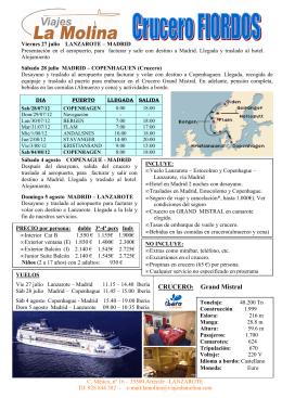 ITINERARIO FIORDOS - Grupo Europa Viajes
