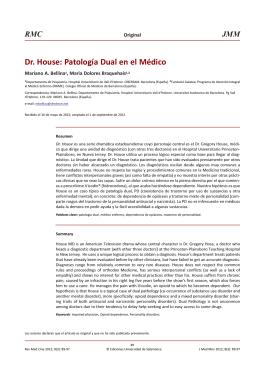 Patología Dual en el Médico - Revista de Medicina y Cine