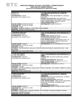 Octubre 2011 - Dirección General de Radio, Televisión y