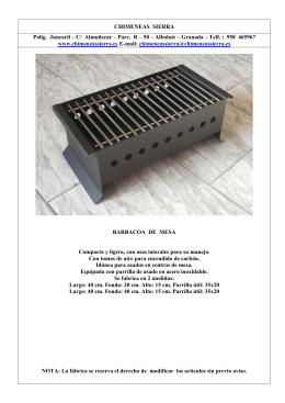 Descargar catálogo de BARBACOAS en pdf.